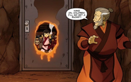 Kiyi melts the door