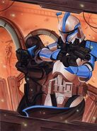 Atin Skirata (in stealth armor) with Null ARC Trooper Prudii Skirata Star Wars