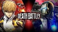 Genos VS War Machine (One Punch Man VS Marvel's Iron Man) DEATH BATTLE!