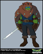 Leonardo as changeling in the game Super Quest