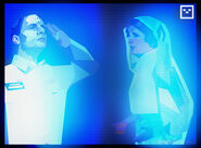 Two Holograms- Rimmer and Leia