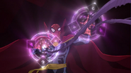 Ultimate Spider-Man as Spider-Supreme Shooting Mystic Webs