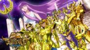 Gold Saint and Athena