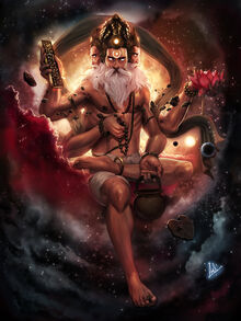 Brahma god of creation by molee