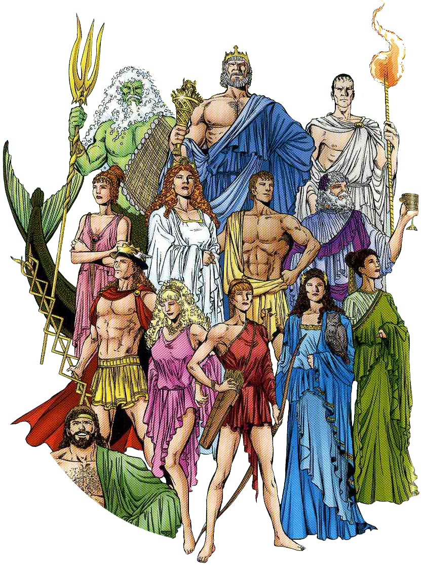 Olympic gods of Ancient Greece