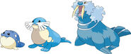 Spheal, Sealeo, and Walrein