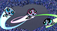 Powerpuff Girls flying