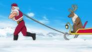 Santa claus is rudeolf