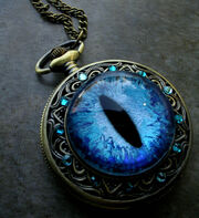 Deluxe sovereign pocket watch sky blue dragon eye by ladypirotessa-d80dk0i