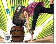 Sanji swings massive Sledgehammer