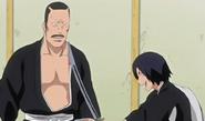 Hanatarō wielding Hisagomaru