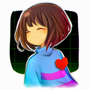 Frisk - undertale by darklephise