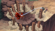 Tenzo Suppresing The 4 Tailed Naruto