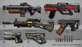 Sci fi gun design by metaphor9-d7y5t9z