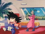 Bulma Shooting Goku