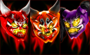 Oni Masks Collage (Lego Ninjago Masters of Spinjitzu)