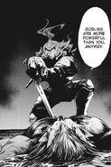 Goblin Slayer kills Ogre