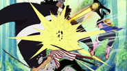 Straw Hats' Santoryu Gomu Gomu no Diable Mouton Jet Roppyaku Pound Cannon (One Piece)