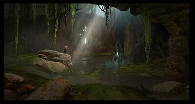 CaveGlowingTrees