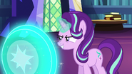 Starlight Glimmer with a magic shield S6E21