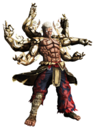 Six armed vajra asura by superkaijuking-d8xsp1i