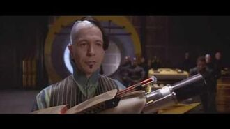 Zorg unveils the ZF1 weapon scene - The Fifth Element