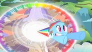 Filly Rainbow Dash sonic rainboom