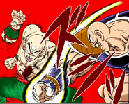 Nappa Attacks Tien