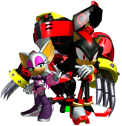 Sonic Heroes Artwork - Team Dark