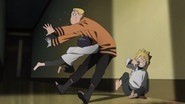 Himawari knocks out Naruto