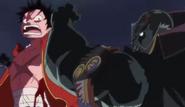 Luffy vs Byrnndi Moa Moa no Mi