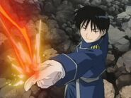 Roy Mustang using flame alchamy