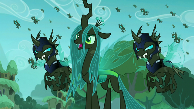 File:Queen Chrysalis and her changeling army (My Little Pony Friendship Is Magic).png