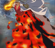 Sakazuki's Magma Propulsion