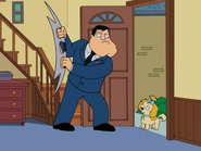 Stan Smith wielding a dual-headed blade