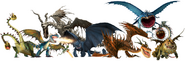 Httyd dragon renders by tfprime1114