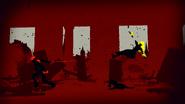 Yang (RWBY) loses an arm