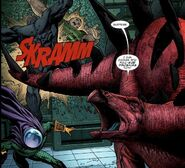 Humberto Lopez (Earth-616) battling the Sinister Six (Earth-616) 001