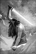 Surtr Norse Mythology BW