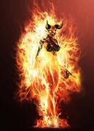 Flame Atronach (Skyrim) Burn