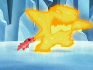 Splodyhead creats fire monster