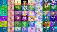 Fairies (Winx Club) transformations