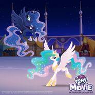 Princess Celestia and Princess Celestia Day promotional MLP The Movie