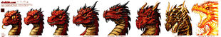 Red Dragon Age Progression by VegasMike