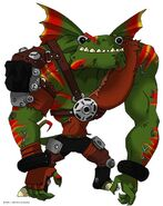 Frill lizards (Ty the Tasmanian tiger) Uber Reptiles