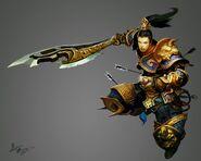 Golden armour