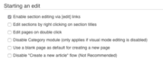 Not disabling start a page