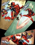 Wade Wilson (Earth-616) vs. Evil Deadpool (Earth-616) from Deadpool Vol 2 49 001