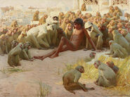 John Charles Dollman - Mowgli made leader of the Bandar Log