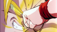 Broly unaffected by Gohan's punch